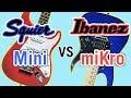 Squier Mini Strat vs Ibanez miKro Comparison