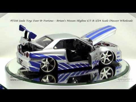 Fast And Furious 4 Skyline >> 97216 Jada Toys Fast & Furious Brians Nissan Skyline GT R 1/24 Scale Diecast Wholesale - YouTube