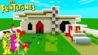 "Minecraft Tutorial: How To Make Fred Flintstones House ""The Flintstones"""