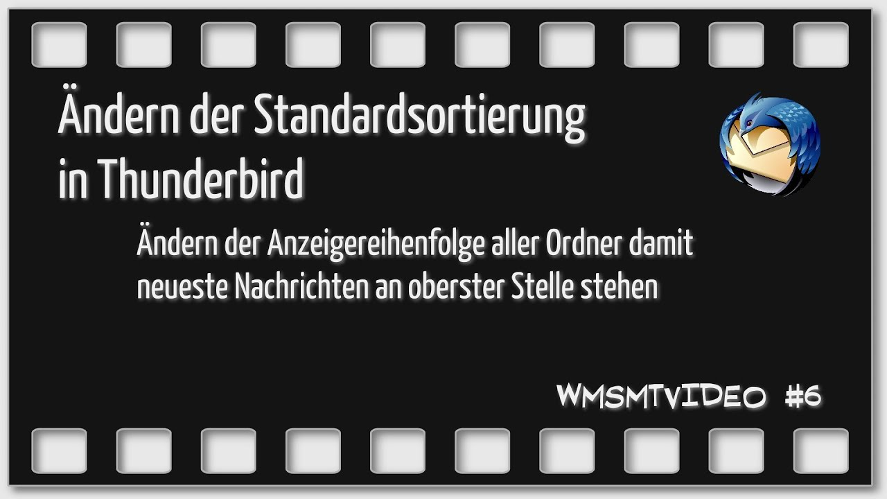 Thunderbird Ordner Reihenfolge ändern