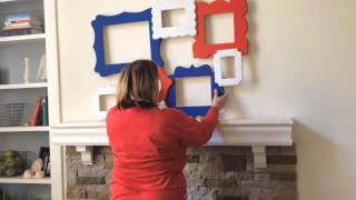 How I Create A Fourth Of July Mantel (time Lapse Step By Step)