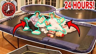 24 Hour Overnight Challenge In Hype House Trampoline Park! ft. Lil Huddy