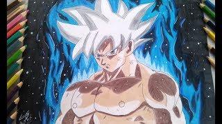 Como Desenhar Goku Instinto Superior Completo com Aura - How to Draw Goku  Ultra Instinct Complet.