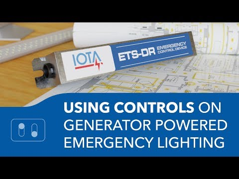 Using Controls on Generator Powered Emergency Lighting - with the IOTA ETS-DR