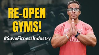 Justice for Fitness Industry!! Pls Re-Open Gyms in India #savefitnessindustry | Yatinder Singh
