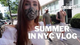 SUMMER IN NYC VLOG: City exploring, Eye Makeup Tutorial with Kaelin, New Home Office | Vlog 2020 #16