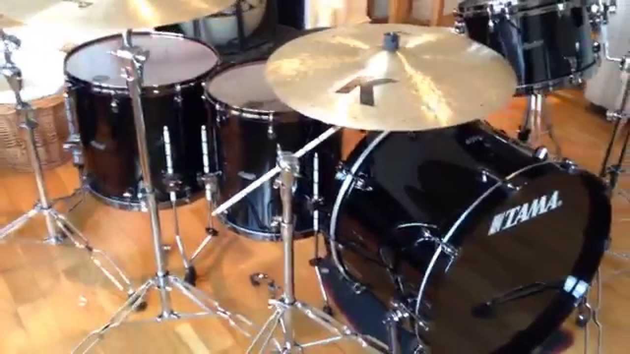 my new drum kit tama starclassic bubinga youtube. Black Bedroom Furniture Sets. Home Design Ideas