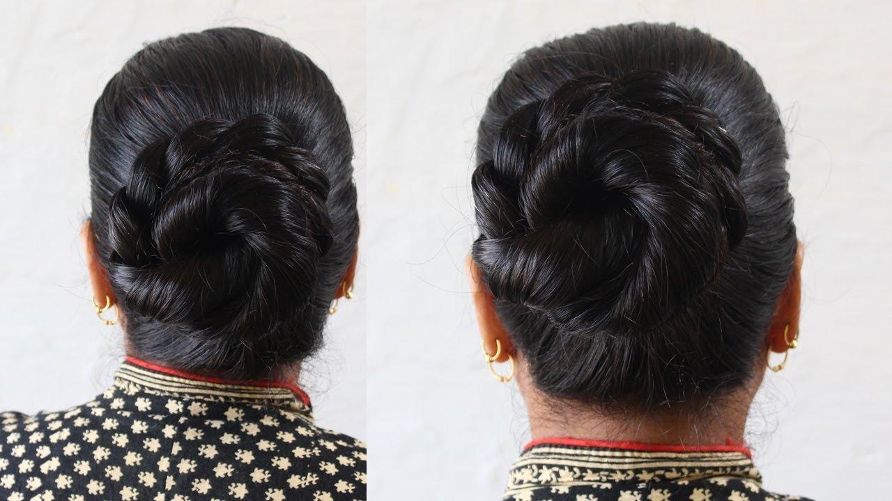 Best and Easy Juda Hairstyle  Bridal Bun hair style  Juda Hairstyle   short hairstyles