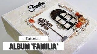 MINI ALBUM FAMILIA PARA PRINCIPIANTES TUTORIAL PARTE 1 ESTRUCTURA LLUNA NOVA SCRAP