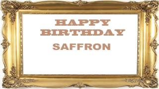 Saffron   Birthday Postcards & Postales - Happy Birthday