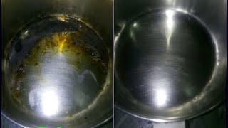 स्टील के जले बर्तन करें झटपट साफ़ । burnt steel pan quick cleaning