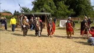 Ritter Römer Rauschenburg Fest Olfen - Einmarsch der Legionäre