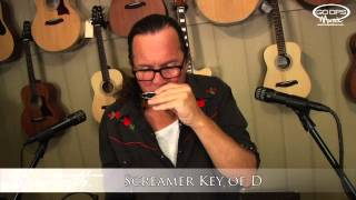 Sawtooth Screamer Harmonica 7 Pack Key of A, Bb, C, D, E, F, G Demonstration w Michael Fell