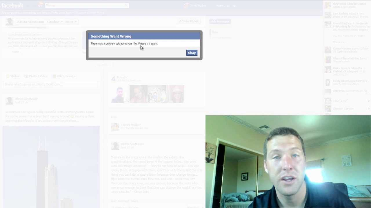Facebook There Was A Problem Uploading Your File! Facebook Video Upload  Solution!