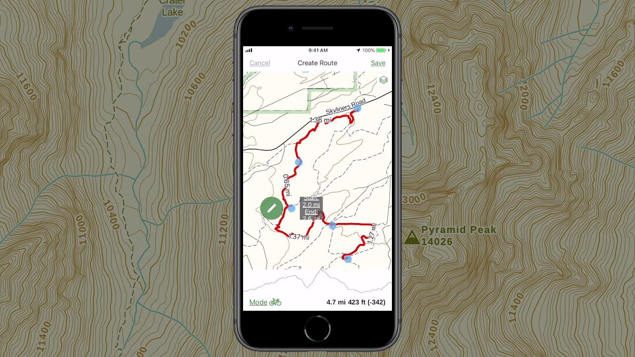 Gaia GPS - Create a Route