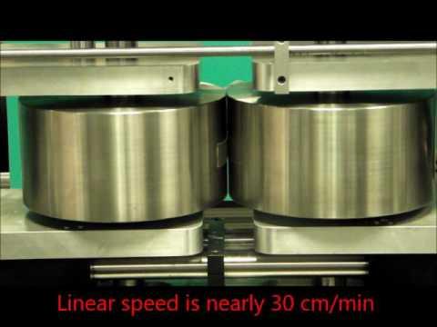 Roll bonding of polymeric films through plastic deformation.