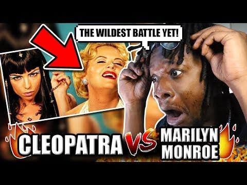 Cleopatra Vs Marilyn Monroe. Epic Rap Battles Of History (REACTION!)