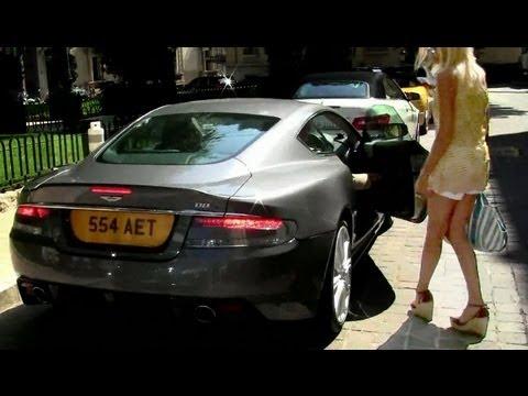 (HD) Hot girls driving Aston Martin's - DBS - DBS Volante