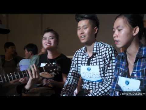 [Hậu trường - Vietnam Idol 2012] Các thí sinh tập luyện trước khi thi