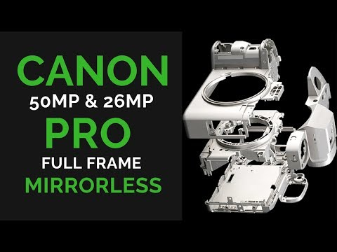 Canon 50MP & 24MP FULL FRAME Mirrorless Cameras AIMED at Nikon Z500 & Z300 & Sony a7R III & a7III