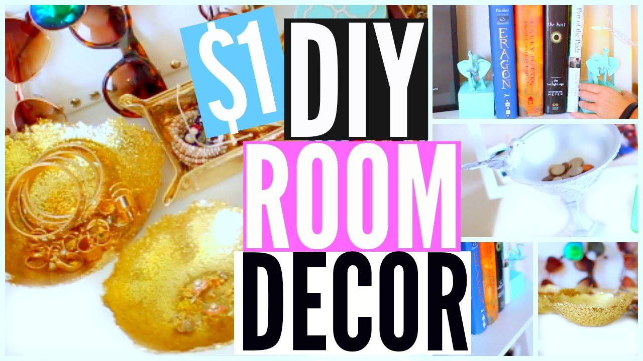 DIY Room Decor Easy Cheap Dollar Store DIYs Courtney