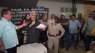 Zé Maria Bixopá assinatura de ordem de serviço, quadra coberta