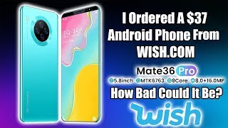 $37 Android Phone From Wish - How Bad Is It? Review and Teardown
