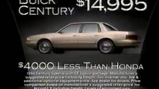 '94 Buick Century commercial (1993)