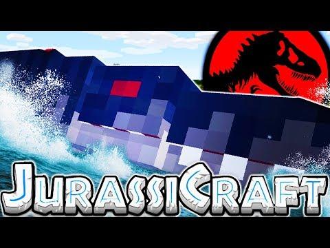 THE SCARIEST OCEAN DINO MOSASAURUS - MODDED MINECRAFT DINOS JURASSIC PARK #6