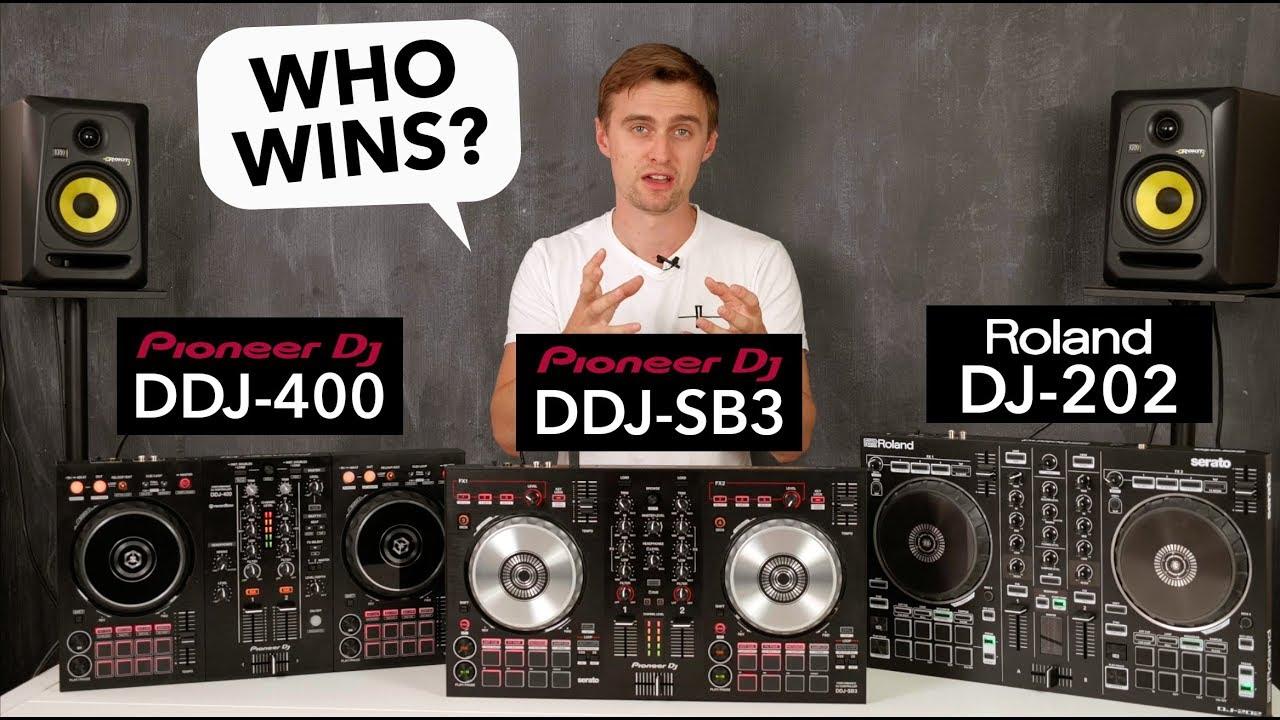 Pioneer DDJ 400 vs Pioneer DDJ SB3 vs Roland DJ 202 - Beginner DJ  Controller Comparison