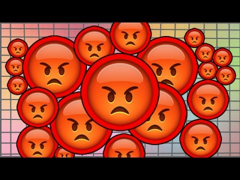 IT MAKES ME RAGE! , MOST ANGRY AGARIO BLOB EVER! RAGE MODE ON! , Agario  Gameplay!