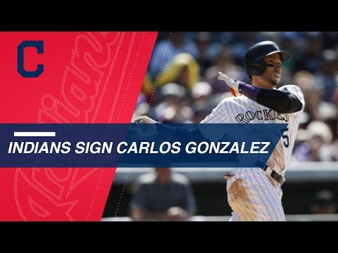 None - Indians Ink OF Carlos Gonzalez To Minor League Deal