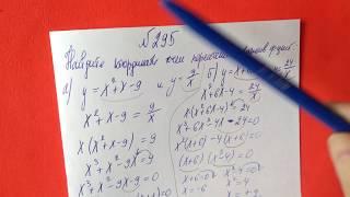 295 Алгебра 9 класс. Найдите координаты точек пересечения графиков