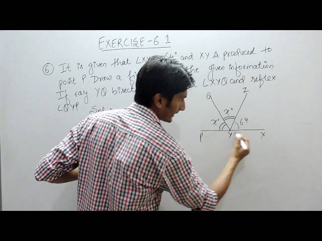 Exercise 6.1 (Lines and Angles) Question 6 NCERT/CBSE Solution for Class 9th Maths