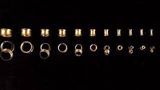 Alargador Aço Dourado Flangeado de Rosca