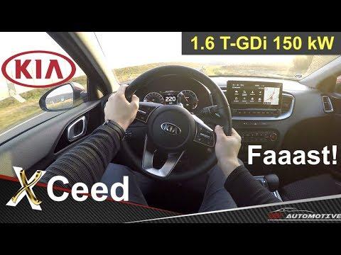 Kia XCeed 1.6 T-GDI 150 KW POV Test Drive + Acceleration 0 - 220 Km/h