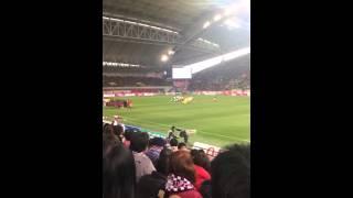 2016 ヴィッセル神戸の開幕戦の試合前に昨年Rー1チャンピオンのじゅんい...