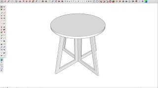 SketchUp beginner tutorial: Draw a table in five minutes!