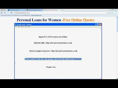 How To Apply For a Personal Loan-Low Interest Personal Loan from YouTube · High Definition · Duration:  1 minutes 2 seconds  · 370 views · uploaded on 3/23/2012 · uploaded by Jakob tomas
