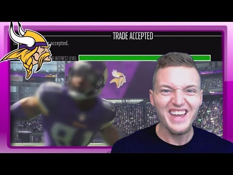 BEAST ROOKIE TRADED TO MINNESOTA! - Madden 18 Vikings Connected Franchise #8
