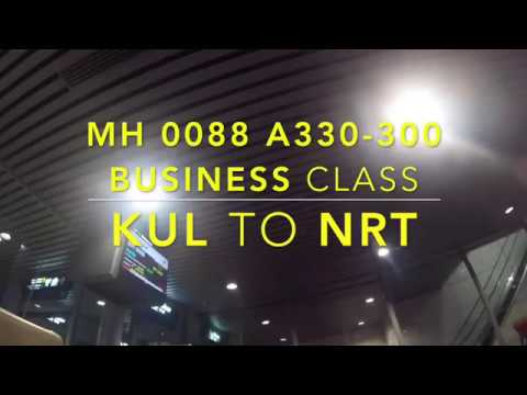 Malaysia Airlines MH0088 A330 Business Class KUR to NRT