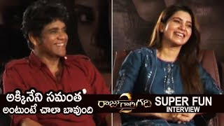 Akkineni Nagarjuna and Akkineni Samantha Super Fun Interview About Raju Gari Gadhi 2 | TFPC