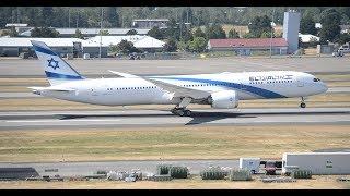 Rare!!! FIRST El Al Israel Airlines Boeing 787-9 [4X-EDA] Takeoff From PDX