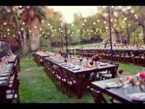 Outdoor Wedding Reception Decorations Ideas Youtube