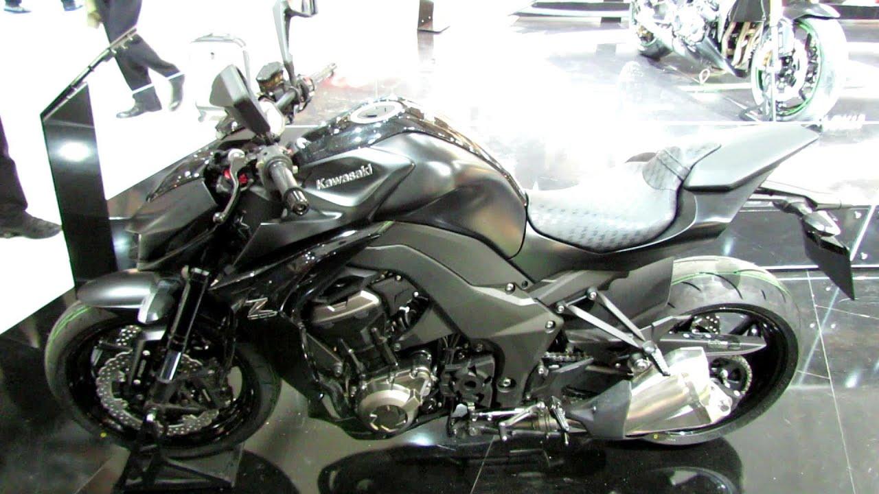 2014 Kawasaki Z1000 Black Colour Walkaround Debut At 2013