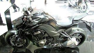 2014 Kawasaki Z1000 - Black Colour - Walkaround - Debut at 2013 EICMA Milano Motorcycle Exhibition