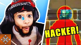 TSM Daequan Wrecked By Fortnite Wall Hacker | Funny Moments Glitch Hack Compilation