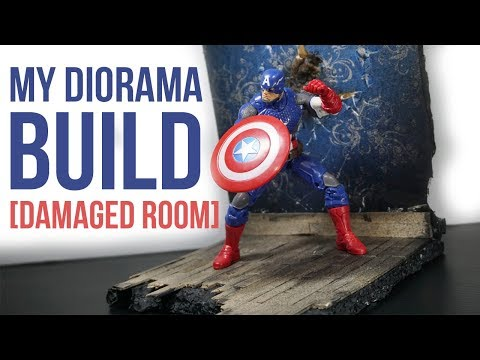 04 [Damaged Room] My Diorama Build | Marvel Legends Captain America