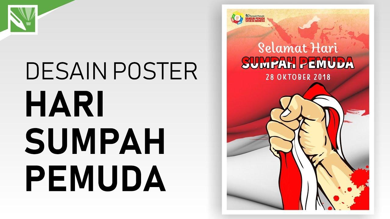 Tutorial Desain Poster Hari Sumpah Pemuda Dengan Coreldraw X7 Desain Poster Dengan Coreldraw X7 Youtube