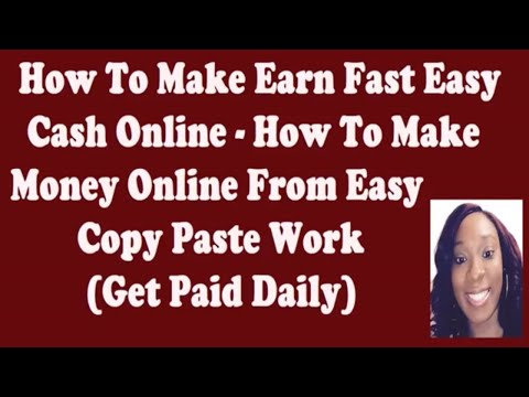 How To Make Money Online Copy And Paste Ads Make Money Online From Home Easy Copy Paste Work 2019